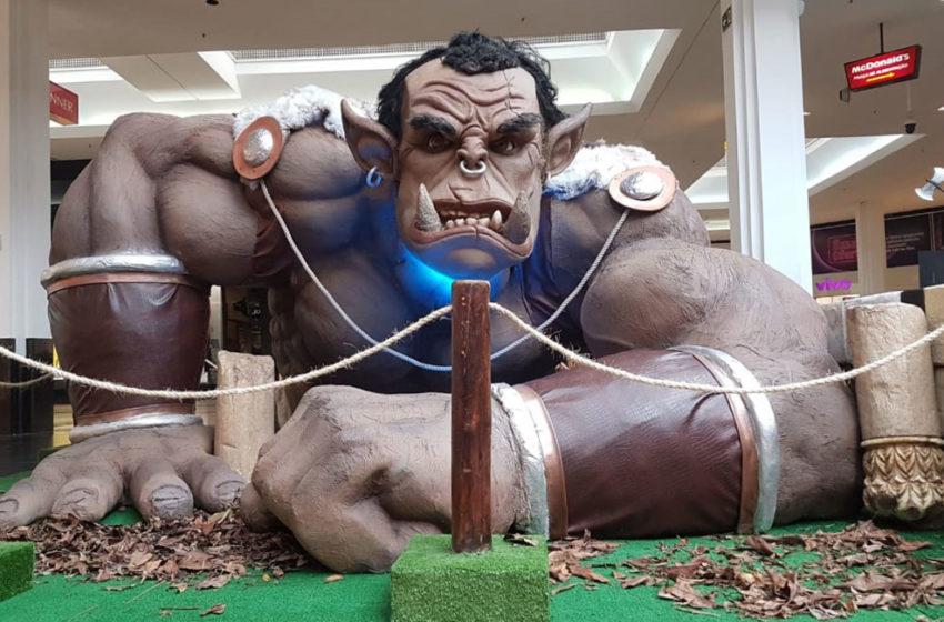 A invasão dos Ogros Gigantes no Shopping Bela Vista