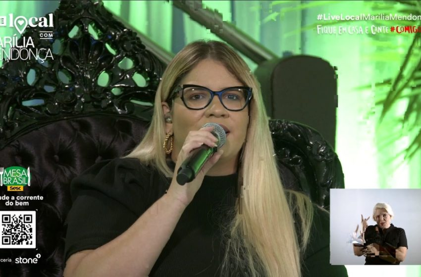 Marília Mendonça quebra recorde em live no YouTube